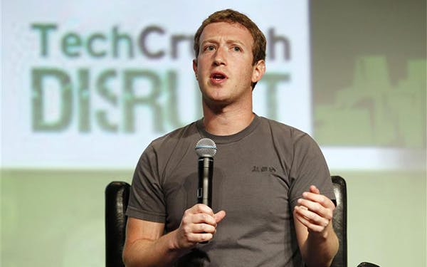 Facebook CEO Zuckerberg speaks during a question and answer session at the TechCrunch Disrupt conference in San Francisco
